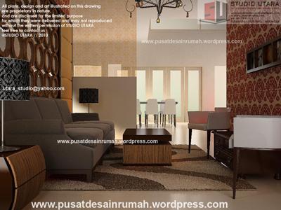 ruang tamu - citraland - surabaya - pusat desain rumah