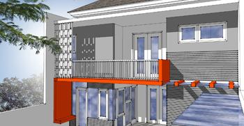 pusat desain rumah - rumah kos - 9x20 - view1