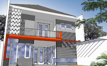 pusat desain rumah - rumah kos - 9x20 - view2